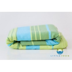 Little FROG Tkaný šátek na nošení dětí s bambusem - Bamboo Turquoise