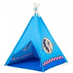 Dětský indiánský stan - modrý indián