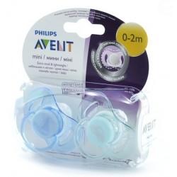 Dudlíky MINI Avent - 0-2m KLUK - modrý+zelený