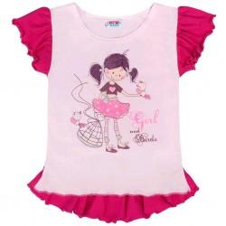 Dětská letní tunika New Baby Girl růžová, Růžová, 128 (7-8 let)