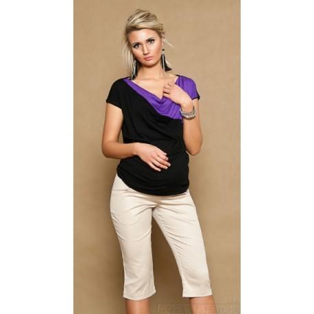 Těhotenské kalhoty ANNA  3/4  - béžové