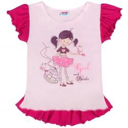 Dětská letní tunika New Baby Girl růžová, Růžová, 140 (9-10 let)