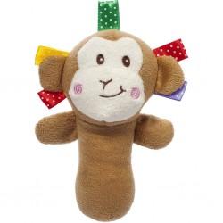 Plyšová hračka s pískátkem Akuku opice, Hnědá