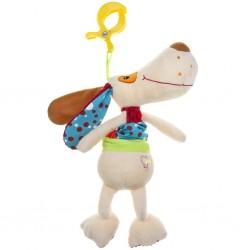Plyšová hračka s hracím strojkem Akuku pejsek, Béžová