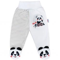 Kojenecké polodupačky New Baby Panda, Šedá, 74 (6-9m)