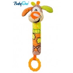 Edukační hračka Baby Ono - pískací s kousátkem  - PEJSEK