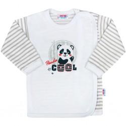 Kojenecká košilka New Baby Panda, Šedá, 56 (0-3m)