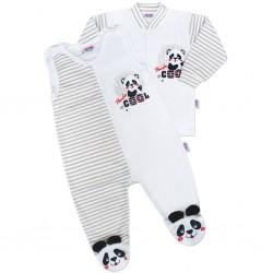 Kojenecká souprava New Baby Panda, Šedá, 56 (0-3m)