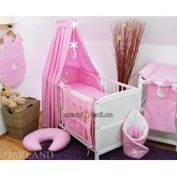 Luxusní 5D set CL - Medvídek na měsíčku růžový