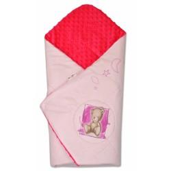 Zavinovačka, bavlněná s minky 75x75cm by Teddy -  sv. růžová, malina