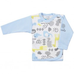 Kojenecká košilka Koala Animals in ZOO modrá, Modrá, 62 (3-6m)
