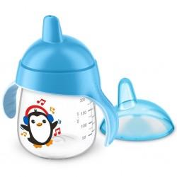 Kouzelný hrneček Avent Premium Pingu 260 ml modrý, Modrá