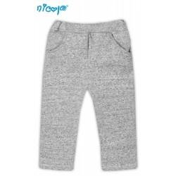 Tepláčky, kalhoty Pejsek - šedé s kapsami