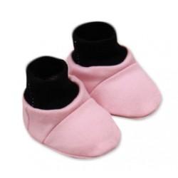 Botičky/ponožtičky, Little princess bavlna - růžovo/šedé