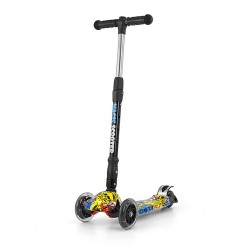 Dětská koloběžka Milly Mally Magic Scooter graffiti, Multicolor