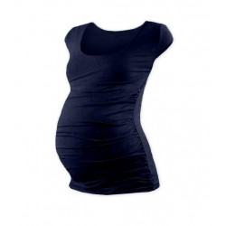 Těhotenské triko mini rukáv JOHANKA - tmavě modrá