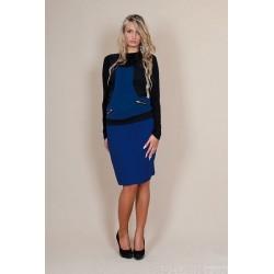 Těhotenské sukně Melanie - modrá