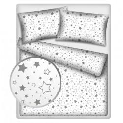 Bavlněné povlečení 140 x 200 - Šedé hvězdy a hvězdičky