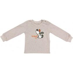 Bavlněné tričko Pet´s - béžové