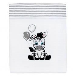 Luxusní dětská zimní deka New Baby Zebra 110x90 cm, Bílá, 90/120 cm
