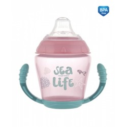 Nevylévací hrníček Sea Life - růžový