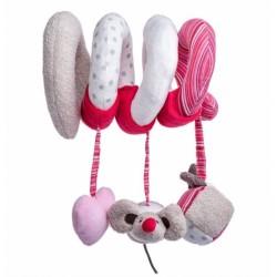Interaktivní plyšová spirála Angelika - Myška růžová