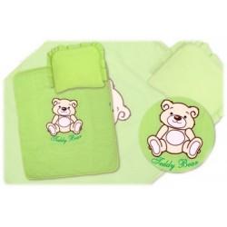 Sada do kočárku Medvídek TEDDY BEAR Baby Nellys - zelená