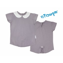 Bavlněné tričko Nicol, Paula - krátký rukáv, šedé