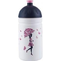 Zdravá láhev - 0.5l - Dívka s deštníkem, bílá