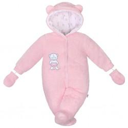 Zimní kombinézka New Baby Nice Bear růžová, Růžová, 56 (0-3m)
