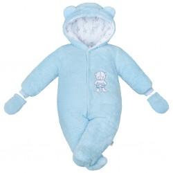 Zimní kombinézka New Baby Nice Bear modrá, Modrá, 56 (0-3m)