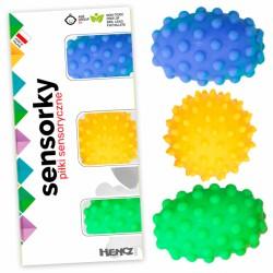 Edukační barevné míčky/ježečci, 3ks v krabičce