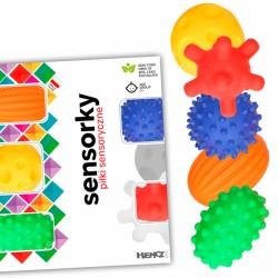 Edukační barevné míčky/ježečci, 5ks v krabičce