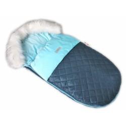 Fusák, spacáček 105x55 Velvet exkluziv prošívaný - modrý
