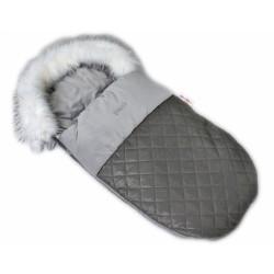 Fusák, spacáček 105x55 Velvet exkluziv prošívaný - šedý