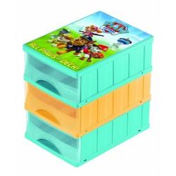 Boxy na hračky - sada 3 šuplíků Paw Patrol