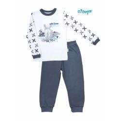 Dětské pyžamo Nicol, Rhino - bílé/grafit