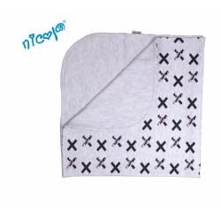 Dětská deka, dečka Nicol, Rhino - šedá se vzorem