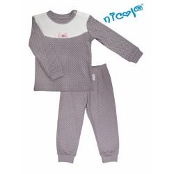 Dětské pyžamo Nicol, Paula - šedo/bílé