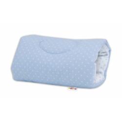 Kojící polštář na ruku Baby Nellys, Tečky - modro/bílé