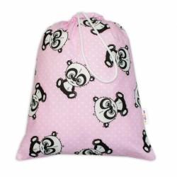 Pytlík na přezůvky Baby Panda - růžový