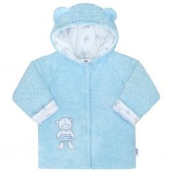 Zimní kabátek New Baby Nice Bear modrý, Modrá, 62 (3-6m)