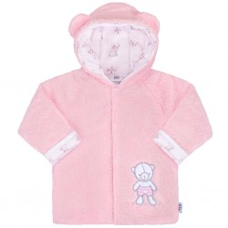 Zimní kabátek New Baby Nice Bear růžový, Růžová, 56 (0-3m)