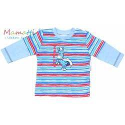 Tričko dlouhý rukáv Mamatti - ZEBRA  - sv. modré/barevné pružky
