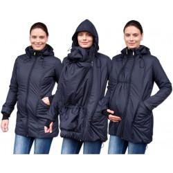Zimní bunda pro těhotné/nosící - vyteplená, černá