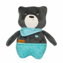 Šumící mazlíček Medvídek Matt 25 cm - grafitový/mátová