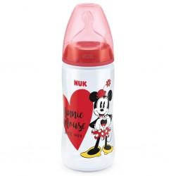 Kojenecká láhev NUK Disney Mickey 300 ml Minnie červená, Červená