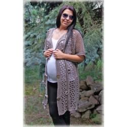 Těhotenský svetřík/plášt  - ESCADA - béžová káva