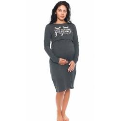 Těhotenská, kojící noční košile Gorgeous - grafitová