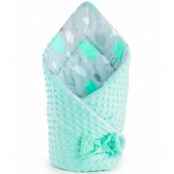 Oboustranná Zavinovačka z Minky New Baby 75x75 cm obláček mátová, Zelená